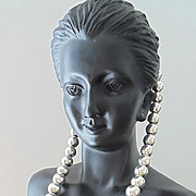MILOR: 39 Grams of Sterling Silver, Expandable Ball Beaded Necklace