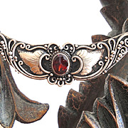 Beautiful Vintage Red Stone Necklace