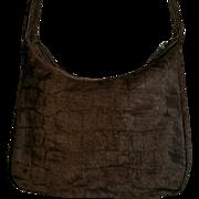Vintage CARLOS FALCHI Animal Fur Shoulder Handbag