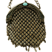 "Antique Armor Mesh, ""Cathedral"" Chatelaine Chainmail Bag"