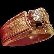 Vintage 14KYG Wedding & Engagement Ring Set
