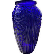 Beautiful Cobalt Baroque Glass Vase