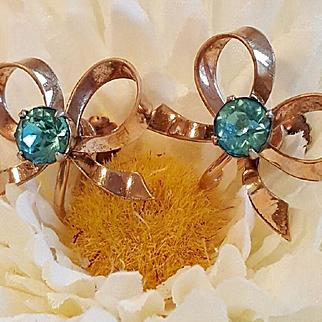 Pretty Aqua Blue 12k Gold Filled Earrings
