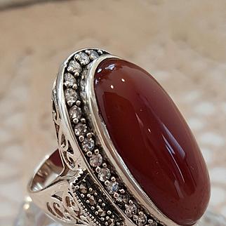 Lovely Red Jasper Ring