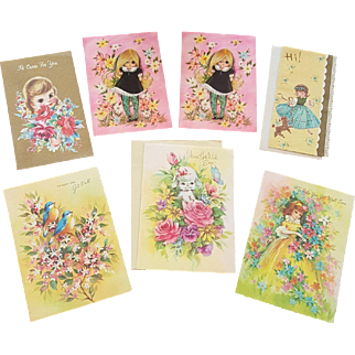 Seven Vintage Collectible Occasional Cards