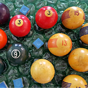 Vintage Collectible Pool Balls & Stuff