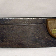 Antique Miter / Dovetail Saw - by A. Ash, Sheffield, England