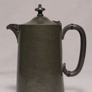 Antique English Pewter Coffee Pot / Tea Pot - Made for Harrods of London, 1880's - 1890's