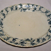 Antique Blue & White Serving Platter - Furnivals Ltd., circa 1890's