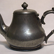 Antique English Pewter Tea Pot - James Dixon & Sons, Sheffield, 1890's - 1900's
