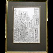 "Signed Print by Douglas A. Heald - ""Minster Gates, York"""