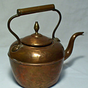 Antique Solid Copper Kitchen Tea Kettle