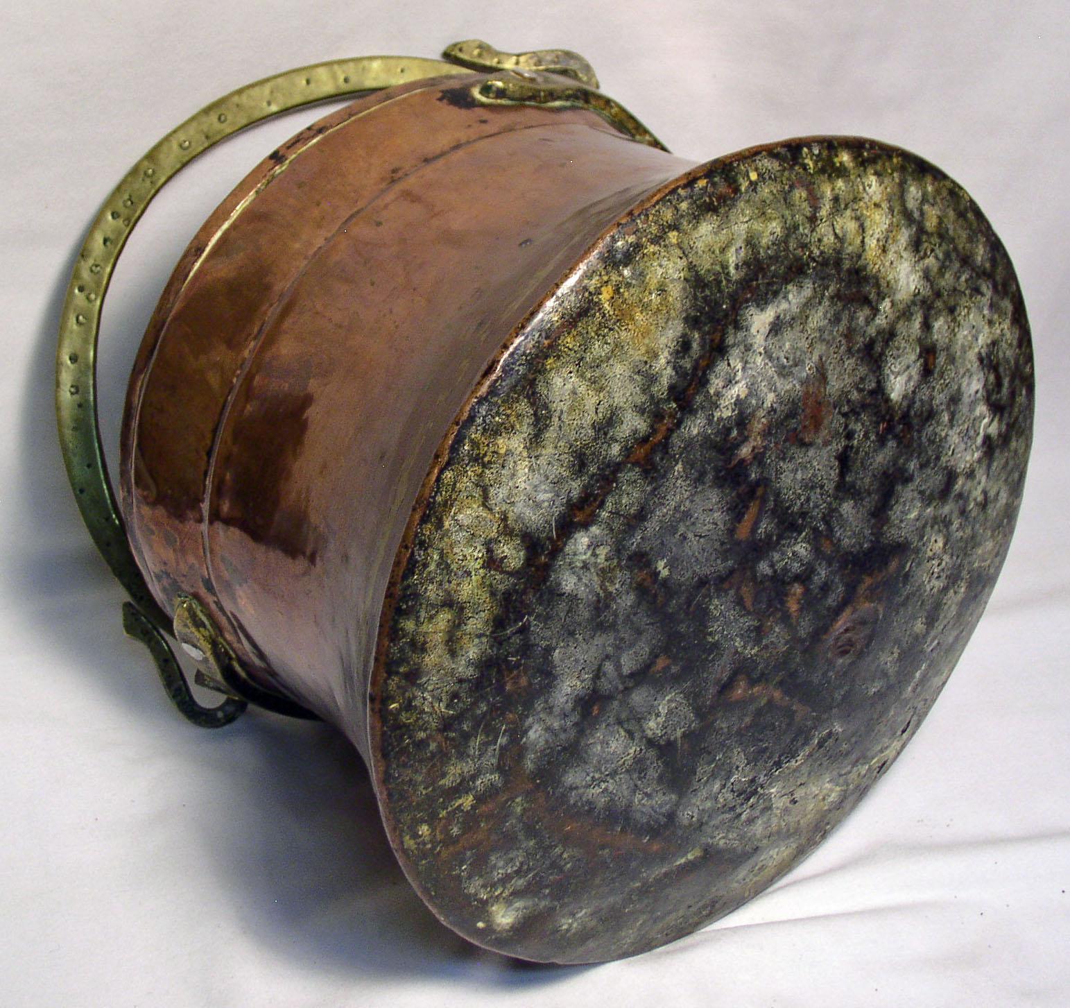 original antique copper u0026 brass fireplace hanging pot england