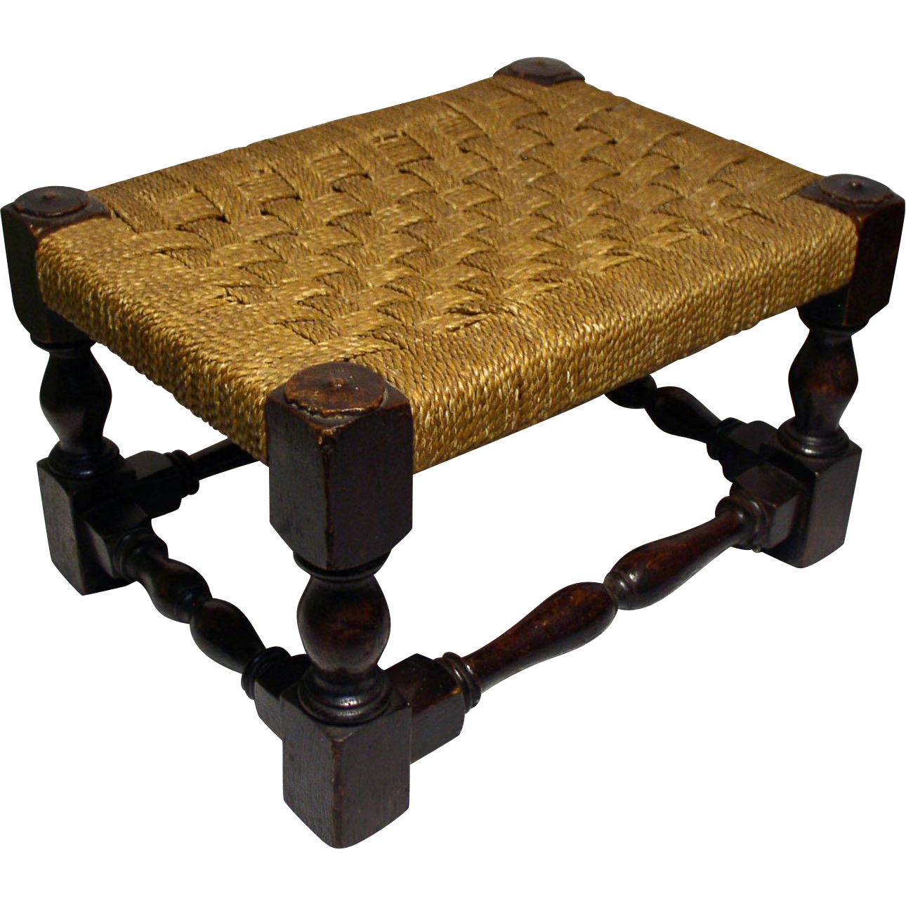 Antique Oak Foot Stool With Woven Seat  sc 1 st  Ruby Lane & Antique Oak Foot Stool With Woven Seat from windrushantiques on ... islam-shia.org