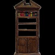 Original 1920's Tynietoy Bookshelf - Dollhouse Furniture