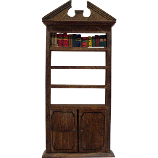 Original 1920's Tynietoy Bookshelf - Dollhouse Furniture
