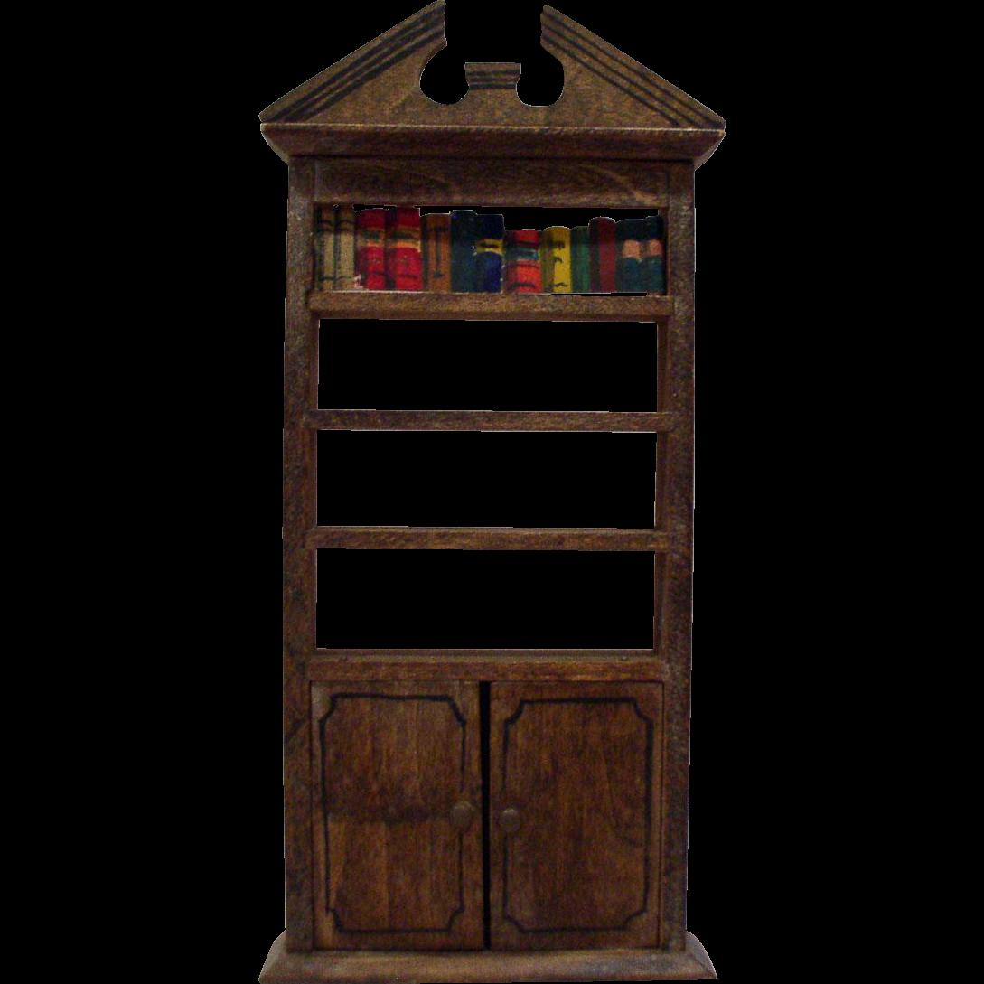 Original 1920's Tynietoy Bookshelf - Dollhouse Furniture from ...