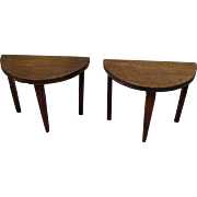 Pair of original 1920's Tynietoy Demi Lune Tables - Dollhouse Furniture