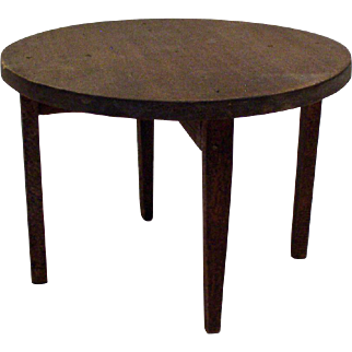 Original 1920's Tynietoy Round Table - Dollhouse Furniture