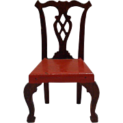 Original 1940's Tynietoy Chair - Dollhouse Furniture