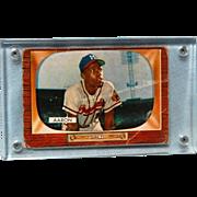 Hank Aarron Boman 1955 Baseball Card