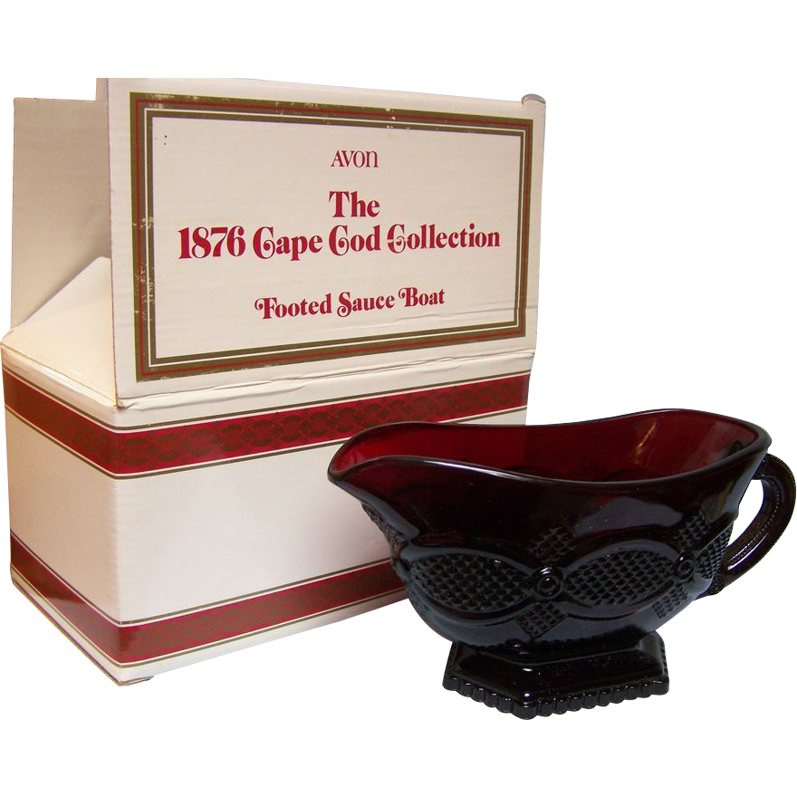 Avon Cape Cod Footed Sauce Boat with Box