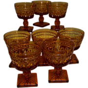 Colony Park Lane  Sherbert Goblets set of 8