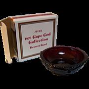 Avon Dessert Bowl Cape Cod Ruby