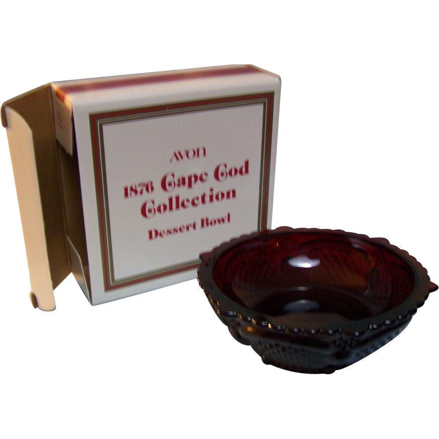 Avon Dessert Bowl Cape Cod Ruby