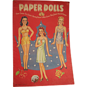 Paper Dolls Beautiful Queens Whitman 1943