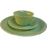 Alice Jadeite Cup Saucer Plate