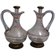 Glass Cruet Decanters Oil Vinegar