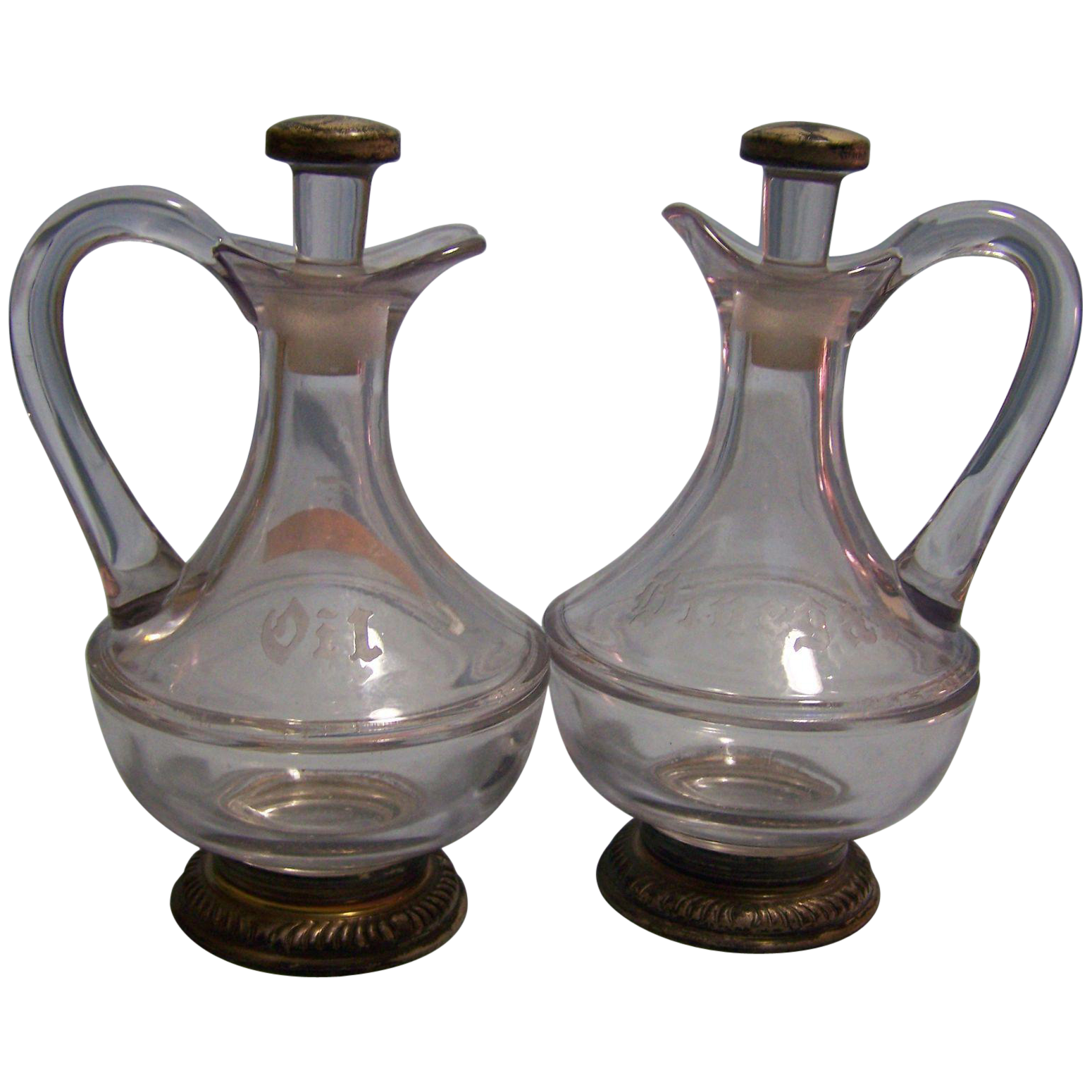 Glass Cruet Decanters Oil Vinegar