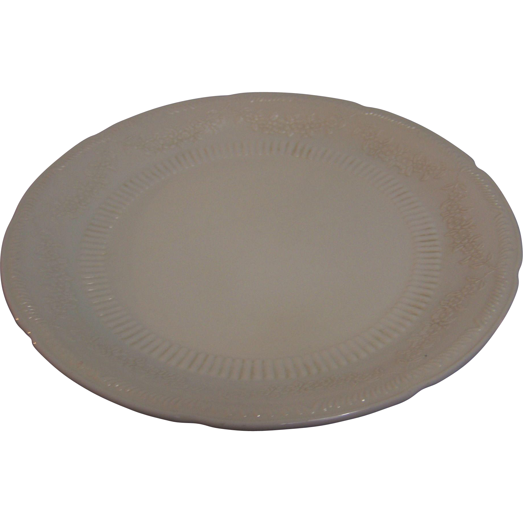 Fire King Vitrock Alice Plate Ivory