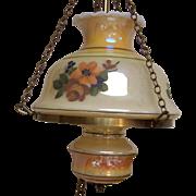 Swag Lamp Lustreware