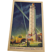 Postcard Chicago Worlds Fair 1933