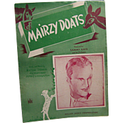 Sheet Music Mairzy Doats 1943
