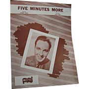 Sheet Music Five Minutes More Piano 1956