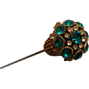 "Hat Pin Rhinestone Victorian 10-1/2"""