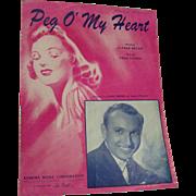 Sheet Music Peg O' My Heart Clark Dennis 1941