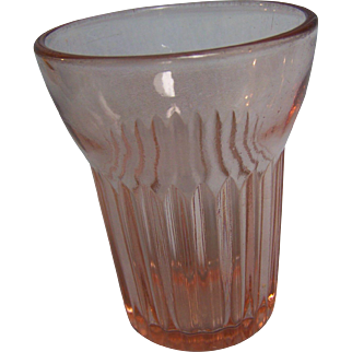 Queen Mary Pink Depression 5 Ounce Juice Tumbler