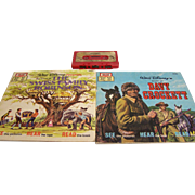 Disney Read-Along Book Davy Crockett Swiss Family Robinson with Tape