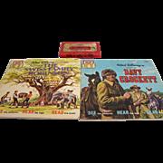 Disney Read-Along Book Davy Crockett Swiss Family Robinson with Tape
