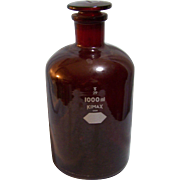 Kimax Apothecary Bottle Ruby Red 1000 ML Stopper