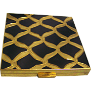 Volupte Compact Black Enamel and Goldtone