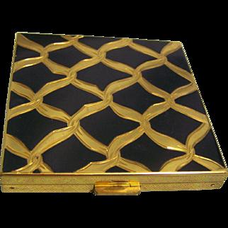 Volupte Compact Black Enamel and Goldtone