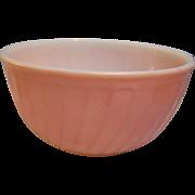 "Fire King Swirl Pink Mixing Bowl 9"""