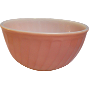 Fire King Swirl Pink Mixing Bowl 9""