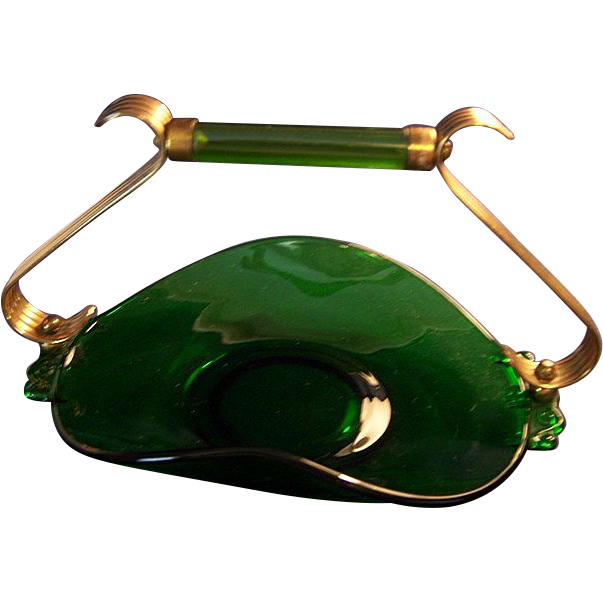 Emerald Glo Muffin Tray Paden City