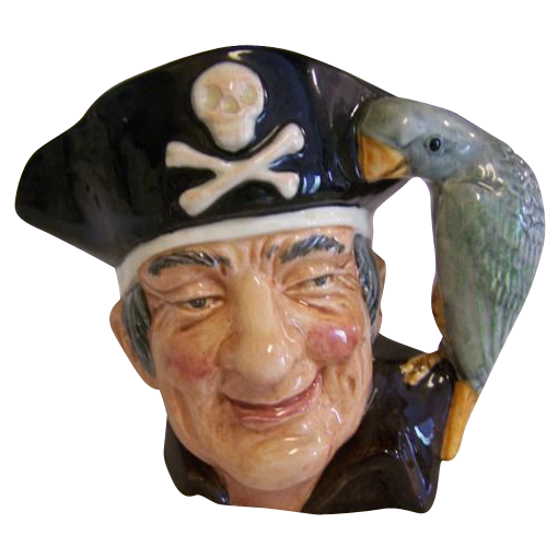 Royal Doulton Long John Silver Toby Mug 1951